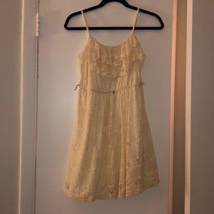 Cream Lace Casual Dress